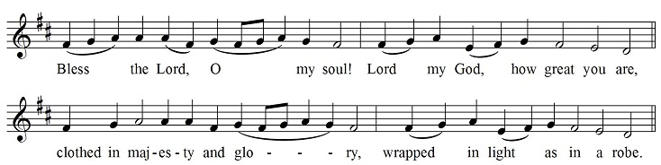 Psalm tone for Psalm 103
