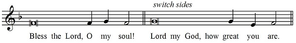Usual psalm tome with switch
