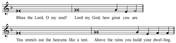 Usual psalm tone